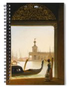Venice A View Of The Dogana Seen Through A Large Doorway Spiral Notebook