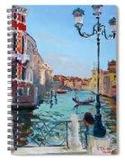 Venice  Aspetando Spiral Notebook