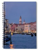 Venice Blue Hour 2 Spiral Notebook