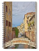 Venice Bridge Crossing 1 Spiral Notebook