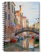 Venice Bridge Crossing 5 Spiral Notebook