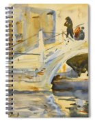 Venice. Bridge With Figures  Spiral Notebook