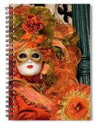 Venice Carnival Mask Italy Spiral Notebook