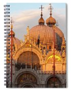 Venice Church Of St. Marks At Sunset Spiral Notebook