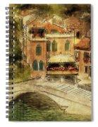 Venice City Of Bridges Spiral Notebook
