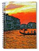 Venice Eventide Impasto Spiral Notebook