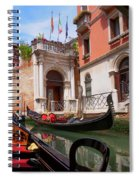 Venice From A Gondola Spiral Notebook