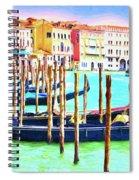 Venice Gondolas Spiral Notebook