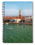 Venice Grand Canal And St Mark's Campanile Spiral Notebook