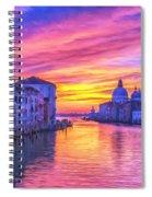 Venice Grand Canal At Sunset Spiral Notebook