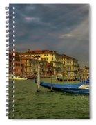 Venice Grand Canal God Sun Rays Spiral Notebook