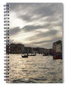 Venice Italy - Pearly Skies On The Grand Canal Spiral Notebook