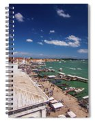 Venice Lagoon Panorama - Bird View Spiral Notebook