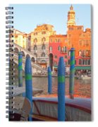 Venice Rialto Bridge Spiral Notebook