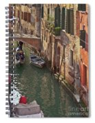 Venice Ride With Gondola Spiral Notebook