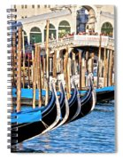Venice Sunny Rialto Bridge Spiral Notebook