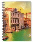Venice Water Taxis Spiral Notebook