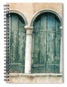 Venice Window Flower Pot Spiral Notebook