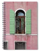 Venice Window In Pink And Green Spiral Notebook