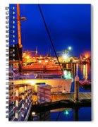 Ventura Harbor At Night Spiral Notebook