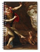 Venus And Adonis With Hounds Spiral Notebook