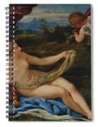 Venus And Cupid Spiral Notebook