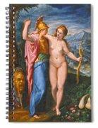 Venus And Minerva In A Landscape Spiral Notebook