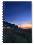 Venus And Moon Over Spring Poppies Spiral Notebook