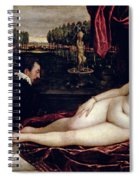 Venus And The Organist Spiral Notebook