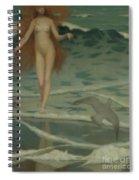 Venus Born Of The Sea Foam  The Birth Of Venus, Detail Spiral Notebook
