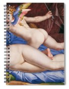 Venus, Cupid And A Satyr Spiral Notebook
