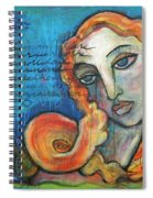 Venus Lets Go Spiral Notebook