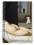 Venus Of Urbino Before 1538 Spiral Notebook