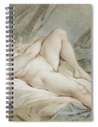 Venus Playing With Two Doves Spiral Notebook