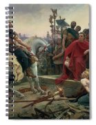 Vercingetorix Throws Down His Arms At The Feet Of Julius Caesar Spiral Notebook
