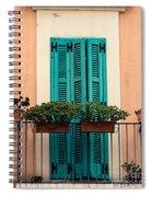 Verdigris Shutters Spiral Notebook