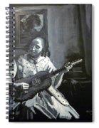 Vermeer Guitar Player Spiral Notebook