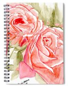Vermilion Pink Roses Spiral Notebook