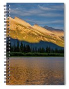 Vermillion Lakes And Mt Rundle Spiral Notebook