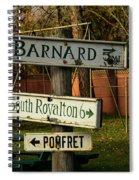 Vermont Crossroads Signs Spiral Notebook