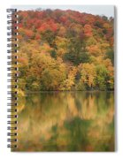 Vermont Fall Foliage Reflected On Pogue Pond Spiral Notebook