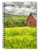 Vermont Farm Landscape Pencil Spiral Notebook