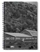 Vermont Farm With Cows Autumn Fall Black And White Spiral Notebook