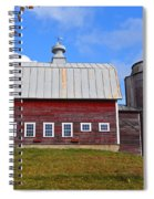 Vermont Farm Woodstock Vt Red Barn Spiral Notebook