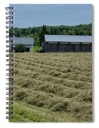 Vermont Farmhouse With Hay Spiral Notebook