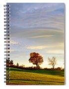 Vermont Hilltop Sunrise Spiral Notebook