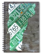 Vermont License Plate Map Art Edition 2017 Spiral Notebook