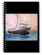 Verna Jean Fishing Boat Nautical Chart Map Spiral Notebook