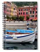 Vernazza Fishing Boats Spiral Notebook