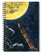 Verne: From Earth To Moon Spiral Notebook